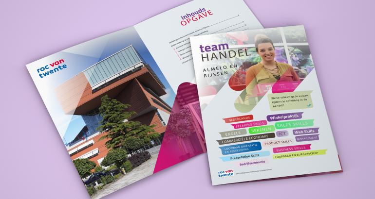 Roc van Twente – Brochure team handel